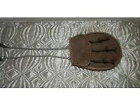 Plain brown leather sport an and chain