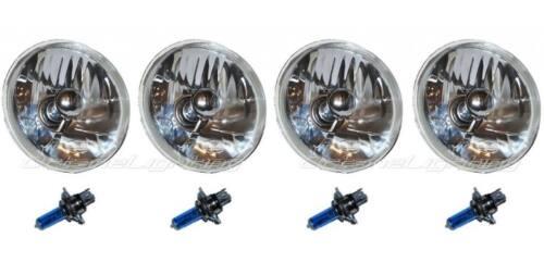 "5-3/4"" H5001 H5006 Halogen Headlight Headlamp Bulb Crystal Clear Sw 60/55W Set"