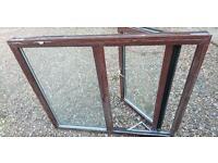 Upvc brown double glazed window