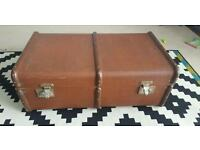 Large Vintage Trunk/Suitcase