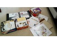 Stamp collections, first day covers and cards for collectors