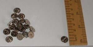 20 PIN BADGE BACKS BUTTERFLY CLUTCH LAPEL PINS ENAMEL BADGES SILVER TONE