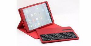 myBitti slim leather bluetooth keyboard case for ipad Air ipad5 with stylus pen-(RED)