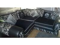 Corner Sofa In Black Seats 5+ People