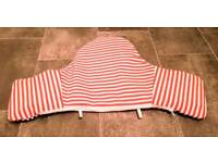 HOUSE CLEARANCE | Used IKEA Pyttig Supporting Cushion & Cover | Stripy Red/Blue |