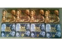 Lord of the rings collectors plates x 8