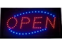 SHOP OPEN LED SIGN FLASHING OR STATIC WHOLESALE SHOP OPEN BRIGHT LED SIGN FLASHING OR STATIC STOCK