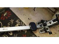 Water flow rowing machine
