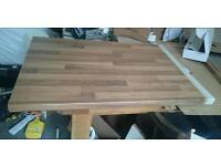 Walnut laminate worktop