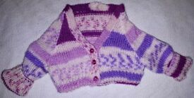 Hand Knitted New Born Onwards Girls Cardi