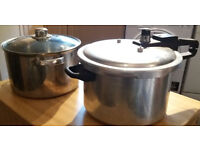 A good sized Pan and a pressure cooker