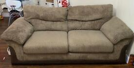 Dfs brown fabric 3 seater