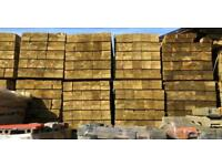 🦋 TANALISED WOODEN/ TIMBER RAILWAY SLEEPERS ~ NEW