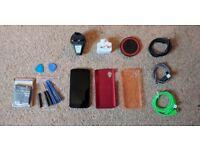 Google Nexus 5 16gb (Black, Unlocked), Box, Wireless Charger & Extras. As working, parts or repair.