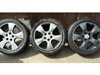 Four Vauxhall tyres