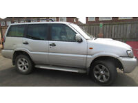 NISSAN TERRANO 3litre SVE 4X4 7 SEATER FULL YEAR MOT TOWBAR FITTED