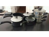 Marks and Spencer's Pan Set + Steamer great condition