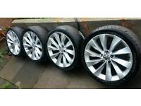 "18"" Genuine VW Scirocco Alloys 5x112 Passat CC Golf Audi Seat Skoda"