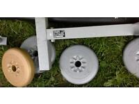 York lifting bench with 4 5lb weights