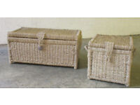Two seagrass storage boxes