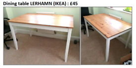 Dining table (Lerhamn, IKEA) - very good condition