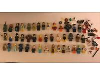 44 RARE LEGO MINI FIGURES AND ACCESSORIES