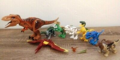 Lego LOT of 9 Jurassic Park World Dinosaurs T-Rex 75918 Mini Figures Minifigure