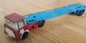 VINTAGE ORIGINAL CRESCENT LORRY AND TRAILER - BOTH MADE BY CRESCENT TOYS STAMPED ETC- SELLING CHEAP