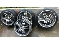 "20"" Mercedes AMG Brabus Style Diamond Cut Staggered Alloys... Fit B C E S Class CLK SL"