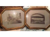 Pair of Newcastle upon Tyne prints