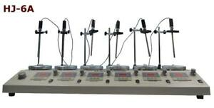 Laboratory 6 Heads Multi Units Digital Thermostatic Magnetic Stirrer with Hotplate Mixer Lab Supply 210070