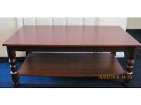Mahogany Coffee Table with Shelf For Sale