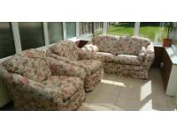 Three piece sofa in good condition