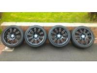 Genuine Staggered BMW E46 M3 Forged Alloys 5x120 Professional Refurb Black New Nankang Tyres Rare