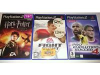 PS2 Playstation games Harry Potter Boxing Pro Evolution