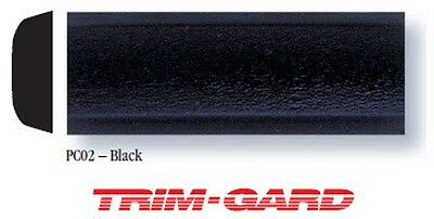 34 x 16 Roll Universal All Black Gloss Textured Trim Gard Body Side Molding