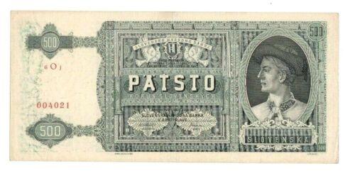 1941 Slovakia banknote 500 korun,P#12a