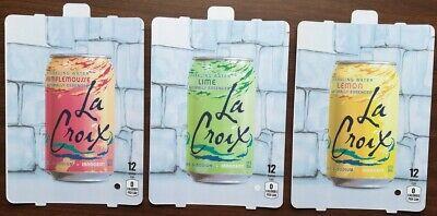 3 Dixie Narco 501e 276hvv La Croixsoda Vending Machine 12oz Can Vend Label