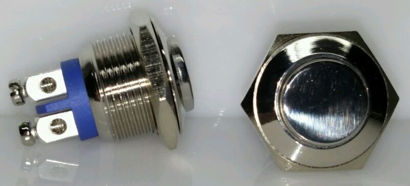 16mm Chrome push button 10 for $10