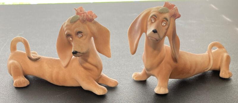 Vintage Dachshund Dog Figure Set Of 2