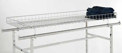 Top Wire Basket Topper For The Double Rail H Racks Chrome