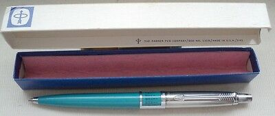 PARKER JOTTER in LIGHTBLUE, DOMED TYP, in ORIGINAL BOX DATED FEBRUARY  1961 !