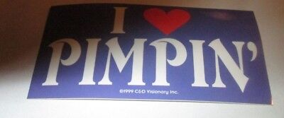 I LOVE PIMPIN STICKER NEW 1999 VINTAGE OOP RARE COLLECTIBLE