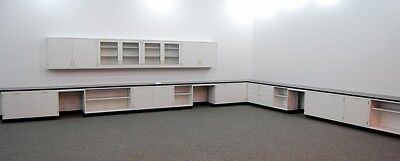 Fisher Hamilton 41 Lab Cabinets Casework W Upperwall Units - St-l016
