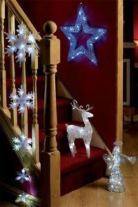 LIGHT-UP-Silver-Sparkle-LED-Angel-Christmas-fairy-XMAS-DECORATION-CLEAR-LIGHTS