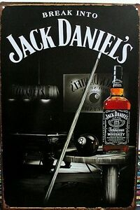 Jack Daniels Tin Metal Sign Rustic Look GREAT FOR MAN CAVE Brand New AU SELLER