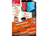 Slush Machine Hire | Rico's Slush Services | Winterised Slushies | Slush Puppie | Slush Puppy |