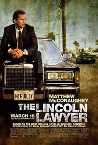 LINCOLN-LAWYER-2011-orig-27x40-movie-poster-MATTHEW-MCCONAUGHEY-MARISA-TOMEI