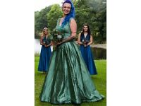 Silk green wedding dress alternative