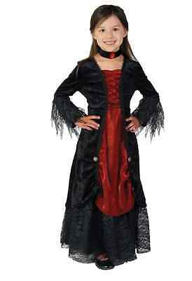 Girls Vampire Costume - Size Toddler 4T and Small 4-6 - Toddler Girl Vampire Costume